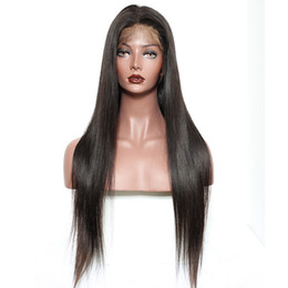 Human Hair Lace Wigs Queen UK - Straight 360 Lace Frontal Wigs For Black Women Pre Plucked 180% Density Honey Queen Peruvian Remy Hair 100% Human Hair Wigs