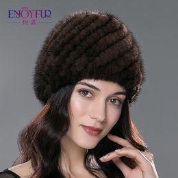 b91c3674050 Winter mink fur hat for women genuine natural fur Pineapple cap Russian  beanies hat fashion good quality thick warm fur hats