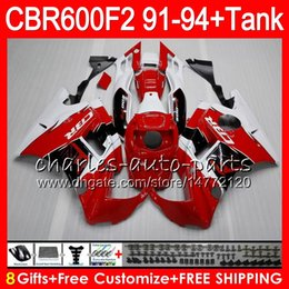 Red Honda F2 Canada - gloss red 8 Gifts 23 Colors For HONDA CBR600F2 91 92 93 94 CBR600RR FS 1HM7 CBR 600F2 600 F2 CBR600 F2 1991 1992 1993 red white 1994 Fairing