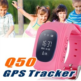 Gsm Gprs Gps Australia - Q50 GPS Smart Phone Watch Children Kid Wristwatch GSM GPRS Locator Tracker Anti-Lost Smartwatch Child Guard