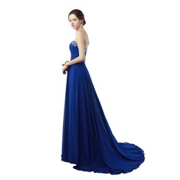 China 2017 Free Shipping Sweetheart neck Prom Dresses vestidos de Noiva Crystals Sweep Train Evening Gowns For Party Occasions suppliers