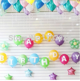 alphabet party decorations UK - Wholesale set 13 Letters happy birthday candy colors birthday party Supply Decoration Balloon Alphabet Party baloons