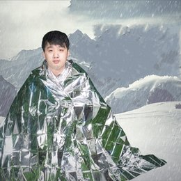 Silver inSulation online shopping - Outdoor Emergency Blanket Outdoor Life Saving Silver Blankets For First Aid Insulation Survive Sunscreen And Easy To Carry sk I1
