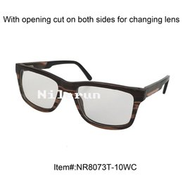 Thin Lens Canada - Tiger pattern thin strong durable layered wood optical glasses with acetate temple tips