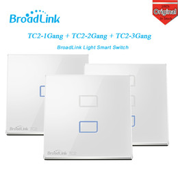 Control Lights Ios NZ - Wholesale-Broadlink TC2 1 2 3 Gang Wireless Wifi Remote Wall Touch Screen Light Smart Switch Smart Home Control Automation By IOS Android
