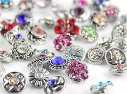 small snap charms NZ - 12mm 100pcs lots Metal Small snap button random delivery noosa button giner button interchangeable charm fit bracelet necklace diy jelwery
