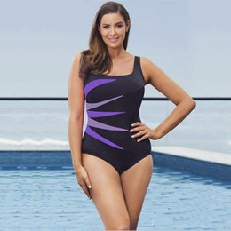 sexy plus size swim wear Australia - Lumier Sporting Swimwear Plus Size Female One Piece Bikini Monokini Sexy Sport Swimming Wear 3 Colors L-5XL WT90816