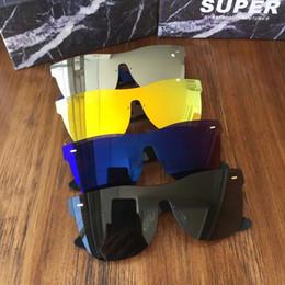 super black sunglasses men 2019 - Sunglasses Super By Retrosuperfuture Tuttolente Flat Top Silver Mirror Brand New with Case cheap super black sunglasses