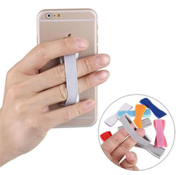 Finger Grip Phone Holder Canada - New Arrival Grip Hold Device with One Finger Universal Cell Phone Strap Soft Elastic Band Holder for Any Device