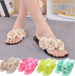 $enCountryForm.capitalKeyWord Australia - Outside Summer Women Slippers Flip Flops Women Sandals Female Candy Color Beach Shoes with Floral Ladies jelly shoes