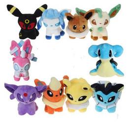 """leafeon glaceon plush 2019 - Pikachu Plush Toy 9 Styles 6"""" Umbreon Eevee Espeon Jolteon Vaporeon Flareon Glaceon Leafeon Plush doll stuffed Toys"""