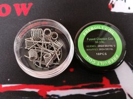 premade fused clapton wire Australia - Alien clapton pre-built coil Fuse clapton premade coils wrap prebuilt SS316L heating stainless steel material SS 316L wires for vape rda