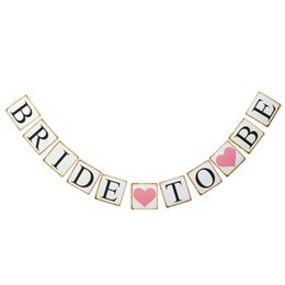 Chinese  Wedding Decoration - BRIDE TO BE Paper Banner Garland Hens Party Night Bridal Shower Decor Bachelorette Party Favors Supply manufacturers