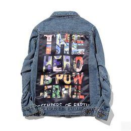 Chinese  2017 Men's Denim Jacket fashion Jeans Jackets Slim fit casual streetwear Vintage Mens jean clothing Plus Size Plus Size M-5XL manufacturers