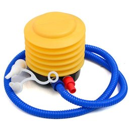 $enCountryForm.capitalKeyWord NZ - Wholesale-10pcs lot Blue Yellow Plastic Hand Foot Pump Inflator for Air Toys Yoga Ball Mattress Inflatable Toy Foot Bellow Air Pump