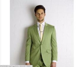 $enCountryForm.capitalKeyWord Canada - New Style Mens Suits Groomsmen Notch Lapel Groom Tuxedos Olive green Wedding Best Man Suit (Jacket+Pants+Tie).