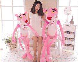 $enCountryForm.capitalKeyWord Canada - 80cm Naughty pink leopard Pink child plush toy doll large to accompany sleeping doll pillow cute girl pillow