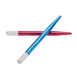 cross pens pencils 2019 - Wholesale-Pro Manual Alloy Cross Shaped Needle Lock Eyebrow Tattoo Pen Permanent Makeup Microblading Tattooing Pencil an