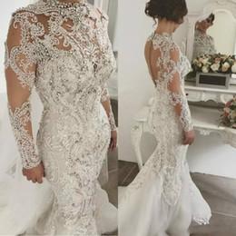 Rhinestone Collar Wedding Dress