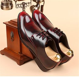 Trend Shoes British Canada - British style wiping lace with men's shoes fashion trend of rubber rough with large yards gentleman shoes