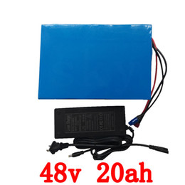 $enCountryForm.capitalKeyWord Canada - Big Capacity 48 Volt Batteries 48V 20Ah Li ion Battery for Electric Bike with PVC case Built in 13S 30A BMS + 2A CC CV Charger