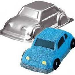 Cake Cars UK - DIY 3D Brand Food-grad Cool Car-shape Aluminum Cake Pan as Cake Decoration Tools for Christmas Eve Cake