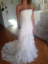 $enCountryForm.capitalKeyWord NZ - Strapless Ruched Ruffled Organza Pleat Flowers Robe De Marriage Bridal Gown COR-293 Wedding Dresses Customer Order