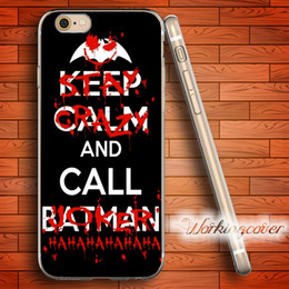 cases for iphone batman NZ - Coque Joker and Batman Soft Clear TPU Case for iPhone 7 6 6S Plus 5S SE 5 5C 4S 4 Case Silicone Cover.
