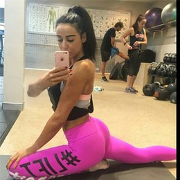Just hot online shopping - 2017 Hot Fashion Winter Comfortable Women Workout Fit Pants Tight fitting Work Out Just Do it Print Loose Cotton Leggings One Size LN1011