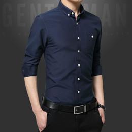 Discount Mens Button Down Collar Shirts Black | 2017 Mens Button ...
