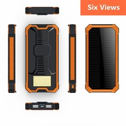Power Bank Batteries Wholesale Canada - 100% Original 20000mAh Portable Powerbank Dual USB Port Solar Power Bank External Backup Charger Battery Powerbank