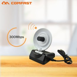$enCountryForm.capitalKeyWord NZ - Wholesale- comfast 300Mbps 20dBm high power Wireless USB WiFi Wi Fi Wi-Fi Adapter With10dBi Radar Antenna WiFi Signal Transmitter Receiver