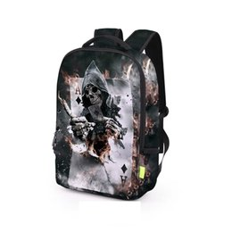 $enCountryForm.capitalKeyWord Canada - Flame Skull 3D Print School Student Backpack Teenager Outdoor Travel Bags 2017 New Fashion Boy Girl Backpacks Laptop Bags BB045BL