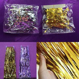 $enCountryForm.capitalKeyWord Canada - Tassel Curtain For Party Wedding Decorations 1m*1m Ribbon Tassel Curtain Flashing Christmas Party Decoration Props High Quality