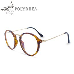 Barato Óculos De Leitura De Moda Leve-Branded Fashion Reading Eyeglasses Óculos Ópticos Quadros Vintage Mulheres Quadro redondo Ultra Light Frame Clear Glasses With Box E Casos