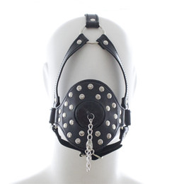 Ball Hood Bondage Australia - 2018 O-ring Mouth Gag Bite Stopper w cover Leather Belt Head Harness Hood Bondage Sex Games Toy