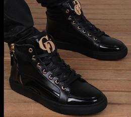Dance shoes men online shopping - Free freight autumn winter new plus high velvet shoes men s leather shoes boots leisure shoes dance