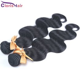 remi human hair NZ - Dyable 2 Bundles Body wave Brazilian Hair Weaves Wholesale Unprocessed Raw Wavy Remi Human Hair Extensions On Sale Natural Black