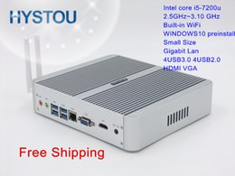 processor ram 2020 - 7th Generation Processor Fanless Mini PC Windows 10 Gigabit NIC Core i5 7200u Turbo 3.0GHz HD 620 HTPC HDMI RAM SSD opti