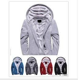 Barato Hoodies Encapuzados De Lã-de alta qualidade lã grossa Warm Winter Coats Hoodies para homem Sweatshirts Outwear Polo Hooded Sportswear Tracksuits mens fashion designer sweaters