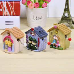 Discount paper house small - A couple of small house music box mini hand Happy birthday fun music box music box manufacturers selling