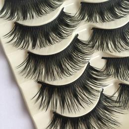 $enCountryForm.capitalKeyWord Canada - 5Pairs Handmade Makeup Natural Long Fake Eye Lashes Thick False Eyelashes Black Extension Tools