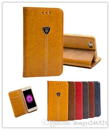 Iphone 5s Vintage Leather Case UK - Wholesale For iphone6 7 plus 6s 5S 5 case Vintage Flip Stand Wallet Leather With Card Slot cover case