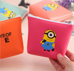 Wholesale Candy Colors Waterproof PU coin purses wallet Pouch Soft girl boy money pouch Bag cute mini coin purse