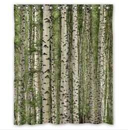$enCountryForm.capitalKeyWord UK - Customs 36 48 60 66 72 80 (W) x 72 (H) Inch Shower Curtain Birch trees mountain autumn landscape Polyester Fabric Bath Curtain