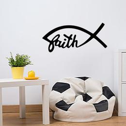 Modern Fish Wall Decor Canada - Fish Devout Catholic Christian Religious Themes Funny Wall Stickers Art Decor Art Graphics Vinyl Stickers Diy