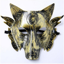 creepy cosplay NZ - Hot Sale New Halloween Party Cosplay Creepy Adult wolf Mask CS Game Mask Costume Prop Novelty Wolf Face Mask Free size