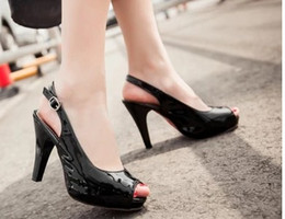 $enCountryForm.capitalKeyWord NZ - wholesaler free shipping factory price hot seller new style peep toes patent leather high heel women dress shoe 190