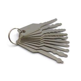 Высокое качество 10pcs Jiggler Keys Lock Pick Set для Double Sided Lock профессиональный кожаный мешок для инструментов слесаря