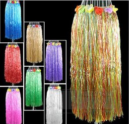 Jupes Adultes Hula Pas Cher-2017 60 CM Adulte En Plastique Fibers Herbe Jupes Hula Jupe Hawaiian costumes Femme Dress Up D'anniversaire De Mariage Party Favors Cadeau